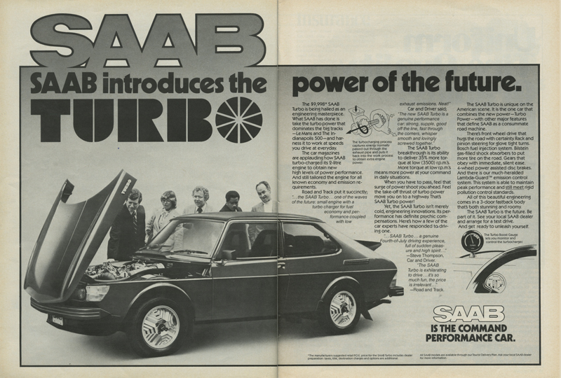 Saab 99 Turbo Power of the Future